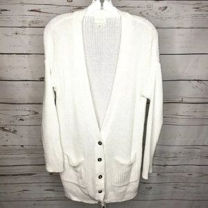 Caslon button front cardigan sweater petite S